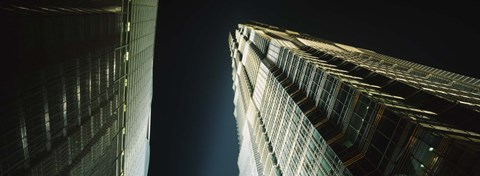 Framed Low Angle View Of A Tower, Jin Mao Tower, Pudong, Shanghai, China Print