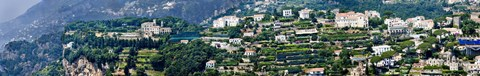 Framed Town on a hill, Ravello, Amalfi Coast, Campania, Italy Print