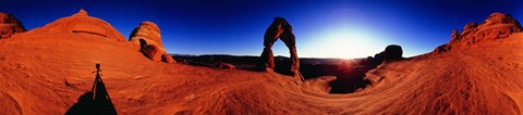 Framed Sunrise over Delicate Arch, Arches National Park, Utah Print
