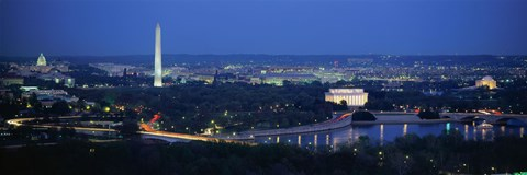 Panoramic View Of Washington Dc Fine Art Print By