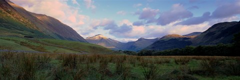 Framed Mountains On A Landscape, Glen Nevis, Scotland, United Kingdom Print