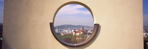 Framed View of a city through an observation point, Stuttgart, Germany Print