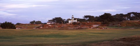 Framed Lighthouse in a field, Point Pinos Lighthouse, Pacific Grove, Monterey County, California, USA Print
