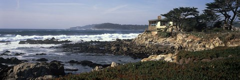 Framed Rock formations in the sea, Carmel, Monterey County, California Print