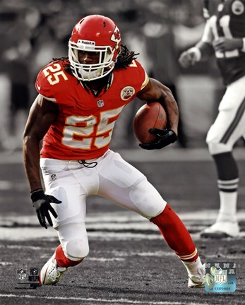 Framed Jamaal Charles 2013 Spotlight Action Print