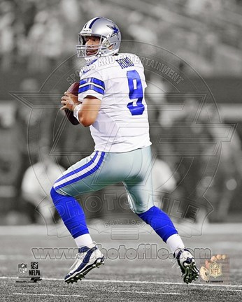 Framed Tony Romo 2013 Spotlight Action Print