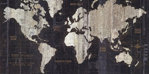 Old world map blue fine art print by wild apple portfolio at framed old world map blue print gumiabroncs Image collections