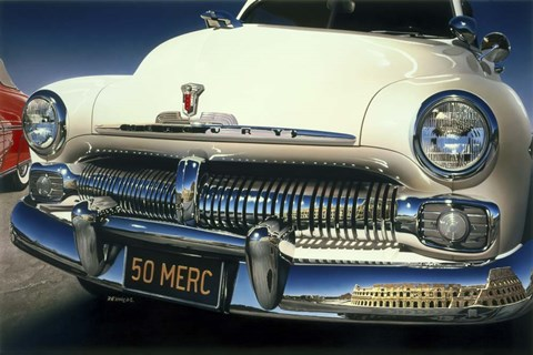Framed '50 Ford Mercury Print