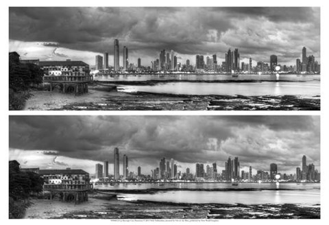 Framed Skyscape City Panorama Print