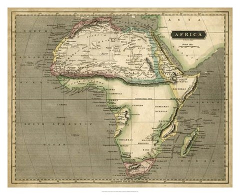 Framed Thomson's Map of Africa Print
