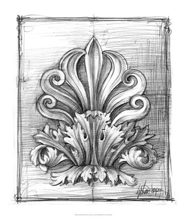 Framed Non-Embellished Decorative Ornament I Print