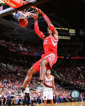 Framed Dwight Howard Basketball Dunk Print