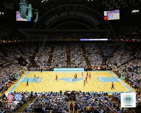 Framed Dean Smith Center University of North Carolina Tar Heels 2011 Print