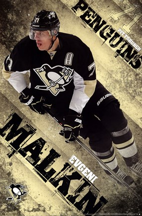 Framed Pittsburgh Penguins - E Malkin 13 Print