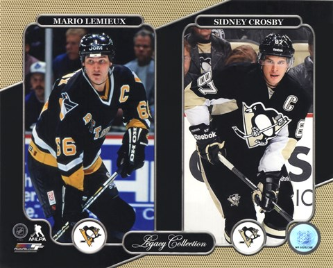 Framed Mario Lemieux & Sidney Crosby Legacy Collection Print