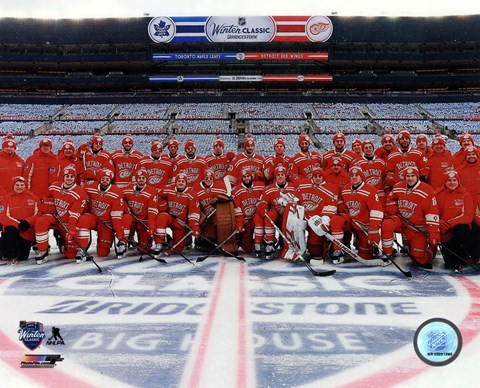 Framed Detroit Red Wings Team Photo 2014 NHL Winter Classic Print