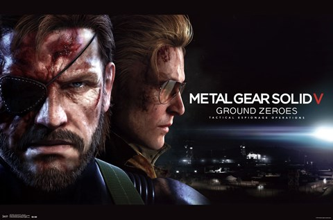 Framed MGS: Ground Zeroes - Big Boss Print