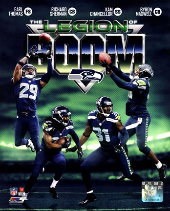 Seattle Seahawks The Legion of Boom Composite Fine Art Print by ...