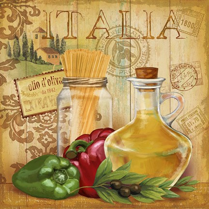 Italian Kitchen Ii Fine Art Print By Conrad Knutsen At