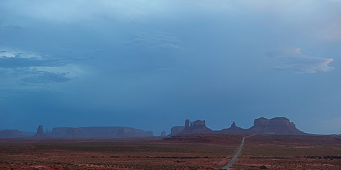 Framed Buttes Rock Formations Under a Stormy Sky Print