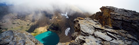 High angle view of a lake, Continental Divide, US Glacier National Park, Montana, USA by Panoramic Images