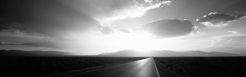 Death Valley National Park at Sunset, California (black & white) by Panoramic Images