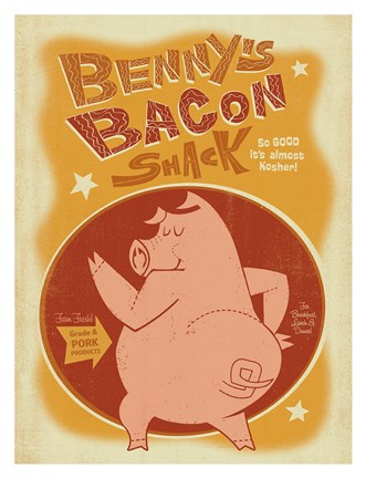 Framed Benny's Bacon Shack Print