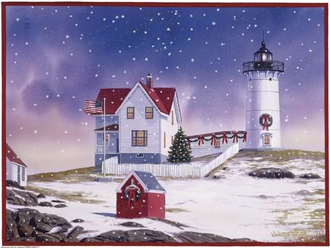 Winter Lighthouse 2 Fine Art Print By William Vanderdasson