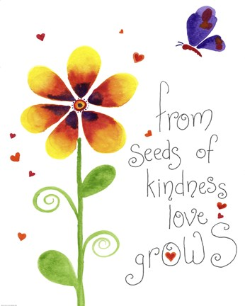 Framed Seeds of Kindness Print