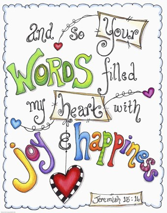 Framed Words of Joy - Joyful Words Print