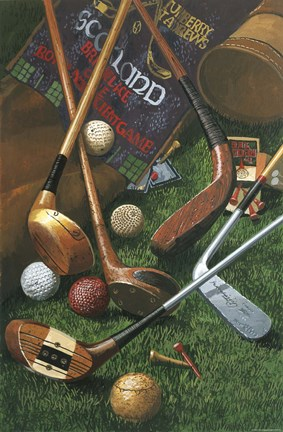 Framed Golf Antiques Print