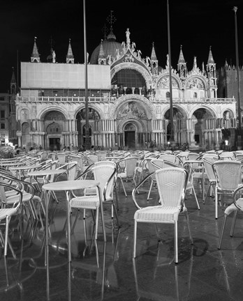Framed Chairs in San Marco Print