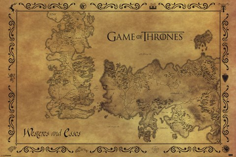 Game of Thrones - Antique Map Wall Poster by Unknown at ...