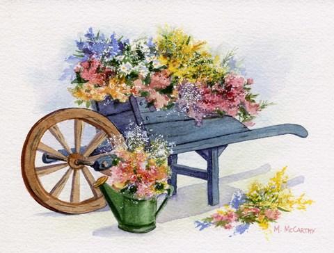 Flower Cart Fine Art Print By Maureen Mccarthy At