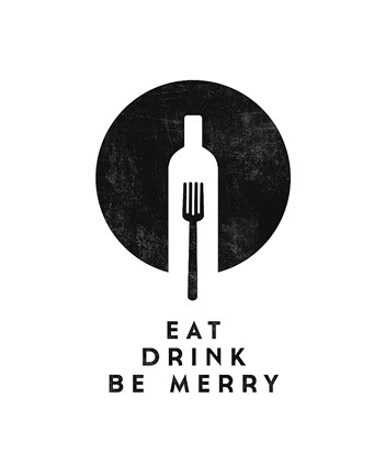 Framed Eat, Drink, Be Merry Print