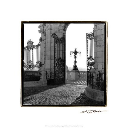 Framed Gates to the Royal Palace, Budapest Print