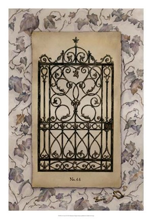 Framed Ivy Gate II Print