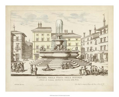 Framed Fountains of Rome II Print