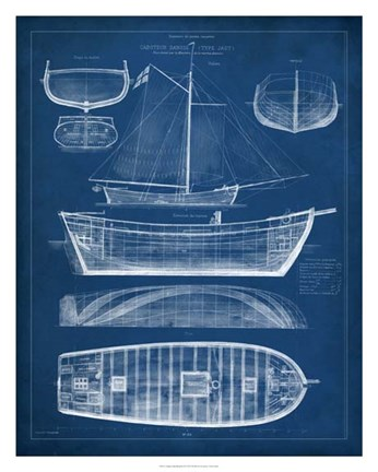 Antique ship blueprint ii fine art print by vision studio at framed antique ship blueprint ii print malvernweather Gallery