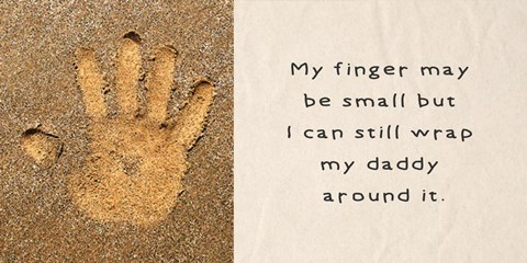 Framed My Finger May Be Small Handprint in the Sand Print