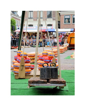 Framed Dutch Cheese Market photograph Print