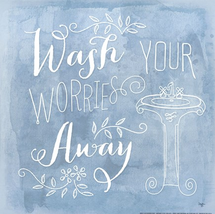 Framed Wash Your Worries Away Print