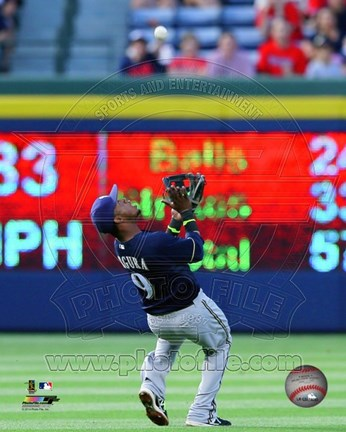 Framed Jean Segura Catching Baseball Print
