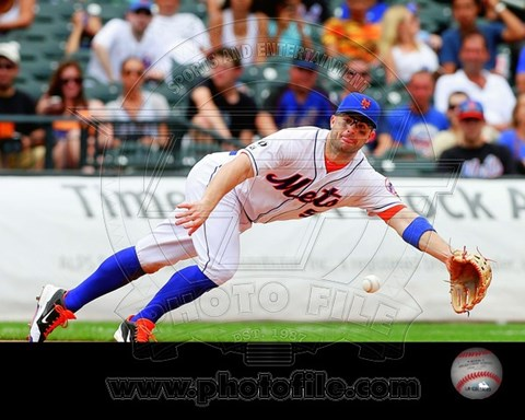 Framed David Wright 2014 in Action Print