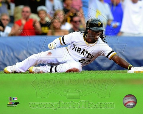 Framed Andrew McCutchen 2014 on the field Print