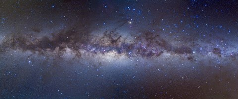 Framed Panorama view of the center of the Milky Way Print