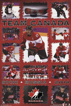 Framed Hockey Canada- Superstars Print