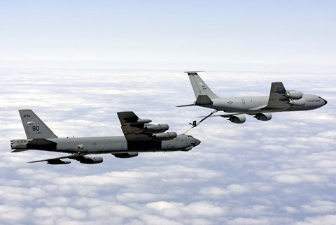 Framed B-52H Stratofortress refuels with a KC-135R Stratotanker Print