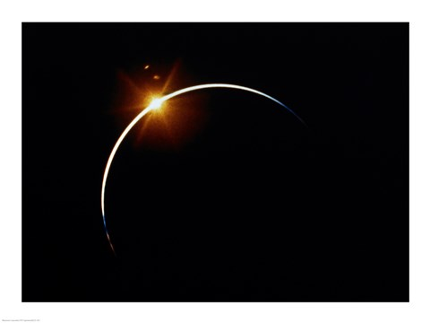 Framed Apollo 12 view of a solar eclipse Print