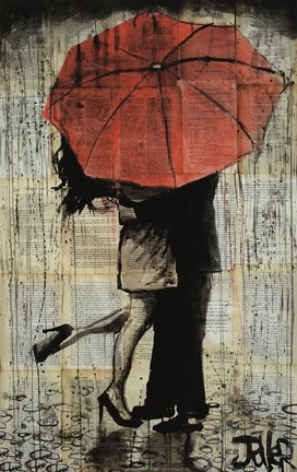 The Red Umbrella Fine Art Print By Loui Jover At